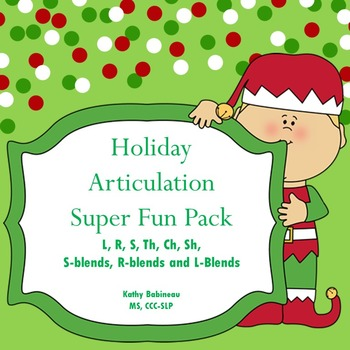 Christmas Holiday Articulation Super Kit!  S, R, L, TH, SH
