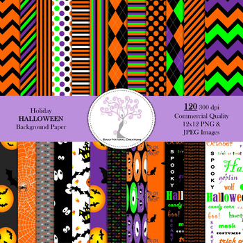 Holiday HALLOWEEN Background Paper Bundle