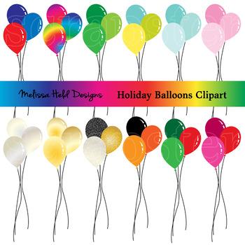 Holiday Balloons Clipart