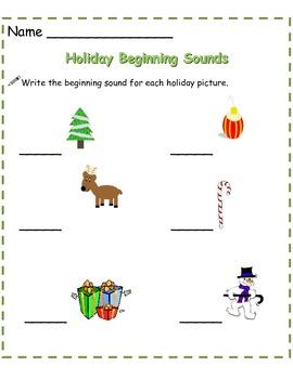 Holiday Beginning Sounds