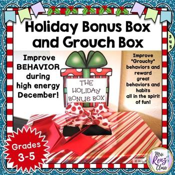Christmas Behavior Incentive FUN Holiday Bonus Box & Grouc