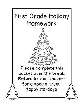 Holiday Break Homework Pack