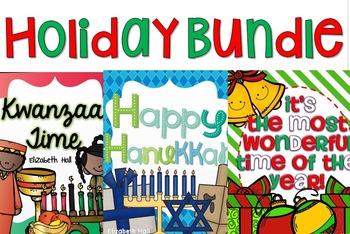 Holiday Bundle {Christmas, Hanukkah and Kwanzaa}