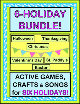 """""""Holiday Bundle!"""" -- Group Games, Crafts, and Songs for SI"""