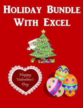 Holiday Microsoft Excel Bundle (Christmas, Valentine's Day