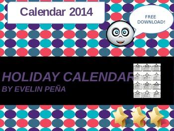 Holiday Calendar 2014