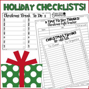 Holiday: Christmas Checklists