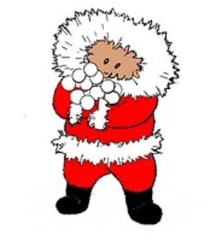 Holiday Clip Art - Christmas New Years Reindeer Snow Snowflake