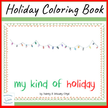 Holiday Coloring Book Christmas Winter Solstice Chanukah K