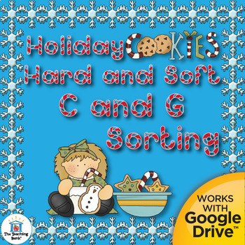 Christmas Holiday Hard/Soft C and Hard/Soft G Literacy Center