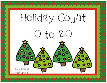 Holiday Count 0 to 20: Christmas and Winter Holiday Themed