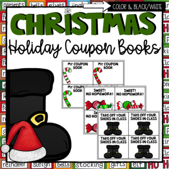 Christmas Coupons- Editable