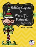 Holiday Coupons and Thank You Postcards