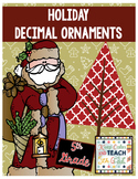 Christmas Decimal Review - Round Decimals, Add Decimals, M