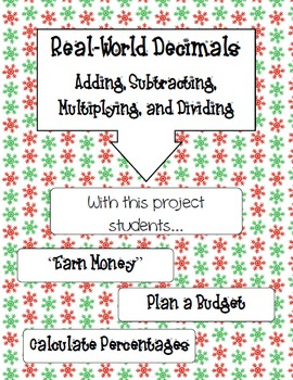 Holiday Decimals--Real World Project
