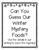 Holiday Descriptive Writing {Mystery Food!}