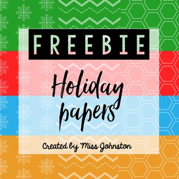 Holiday Digital Papers Freebie
