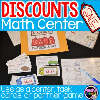 Discounts and Sale Prices Math Center