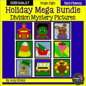 Holiday Division Mystery Pictures - MEGA BUNDLE