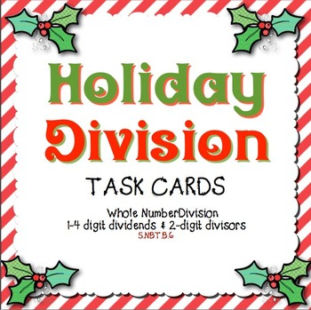 Christmas Holiday Division Task Cards