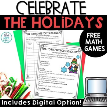 December Holidays Math FREE