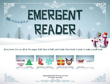 Holiday Emergent Reader