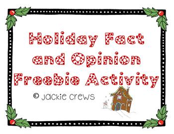 Holiday Fact & Opinion Freebie Activity