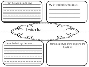 Holiday Four Square Writing