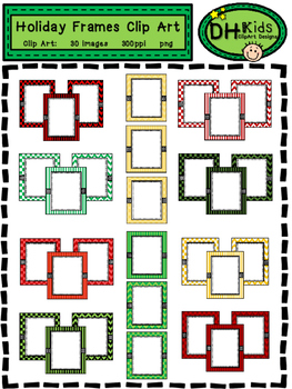 Holiday Frames - Christmas Clip Art Frames - Personal and