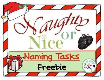 Holiday Freebie - Naming Items