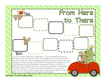 Holiday From Here to There {Place Value Freebie}