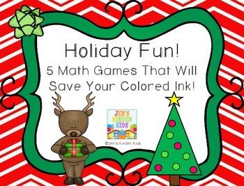 Holiday Fun~ Ink Saving Math Centers!