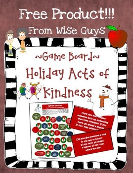 """Holiday Game Board """"Acts of Kindness"""" Theme Cooperative Activity"""