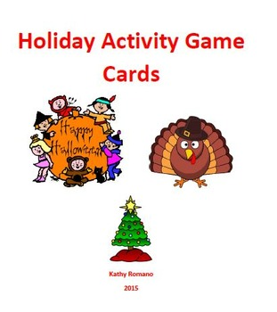 Holiday Game Cards: Halloween,Thanksgiving, Christmas