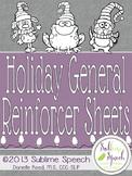 Holiday General Reinforcer Sheets
