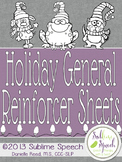 Holiday General Reinforcer Sheets