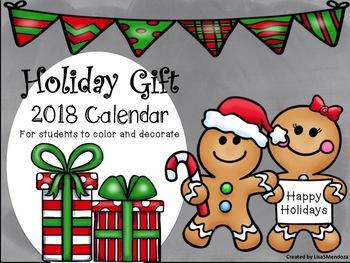Holiday Gift-2017 Calendar