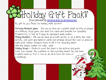 Holiday Gift Pack Freebie!