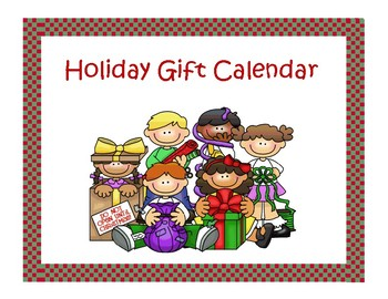 Holiday Gift calendar 2016