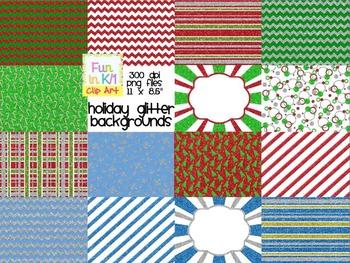 Holiday Glitter Background Digital Paper