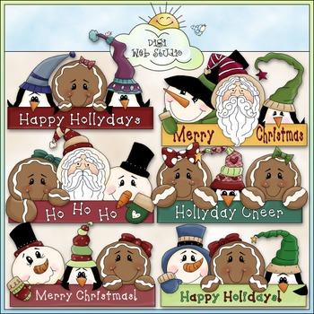Holiday Greetings Clip Art - Christmas Clip Art - Holidays