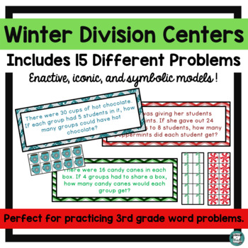 Winter Hands On Division with Manipulatives Center