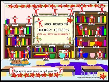Holiday Helpers Smartboard Attendance