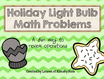 Holiday Light Bulb Math Operation Review