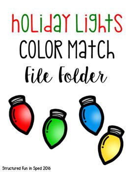 Holiday Lights Color Match Freebie