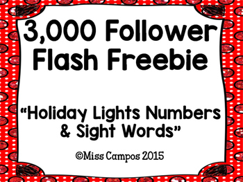 Holiday Lights Numbers to 20 and Sight Words