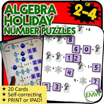 Christmas Math Logic Puzzle Activity