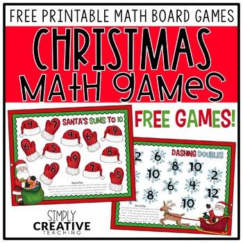 Holiday Math Center Freebie