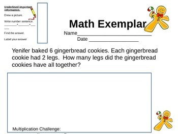 Holiday Math Exemplars