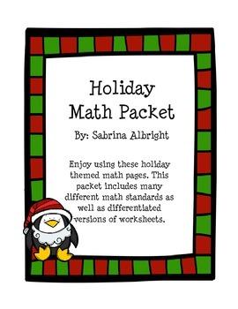 Holiday Math Packet